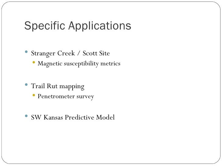 applications of geographic information systems geog503