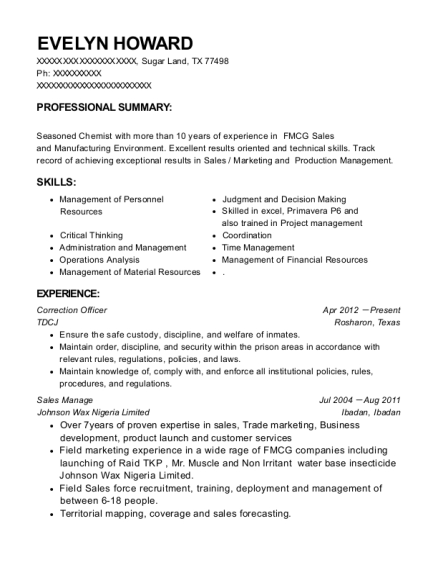 application for federal correctional officer