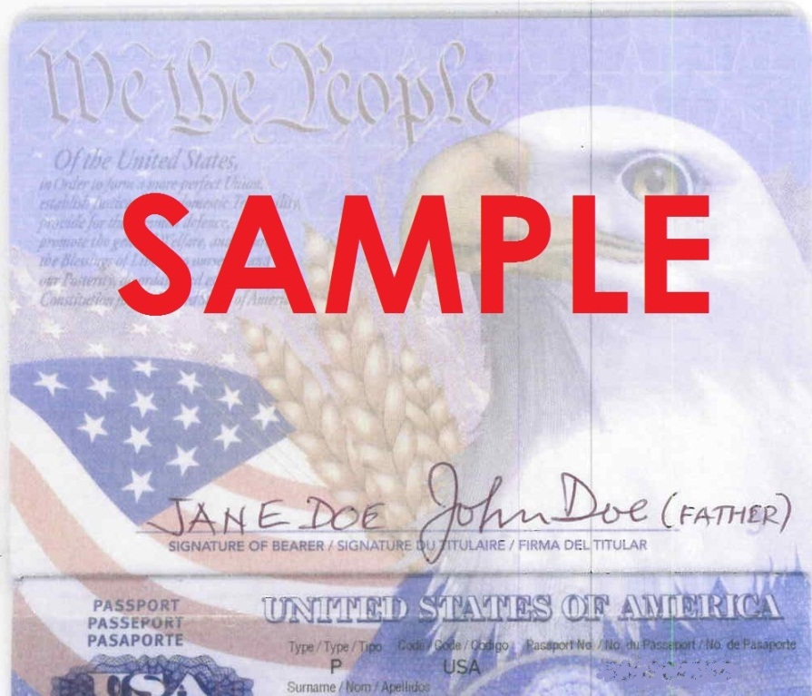does child passport application have barcode