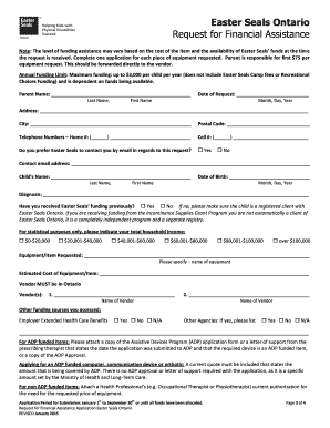 application for financial assistance ontario