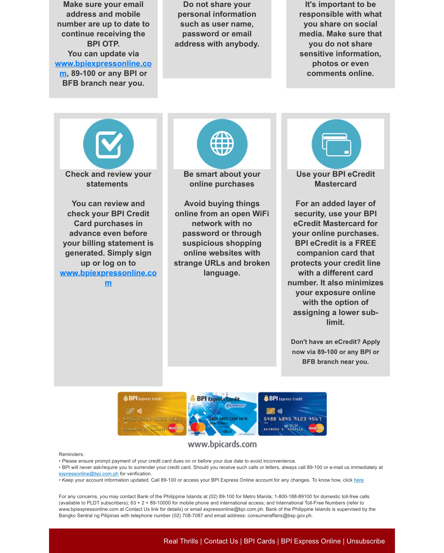 bpi credit card application no annual fee