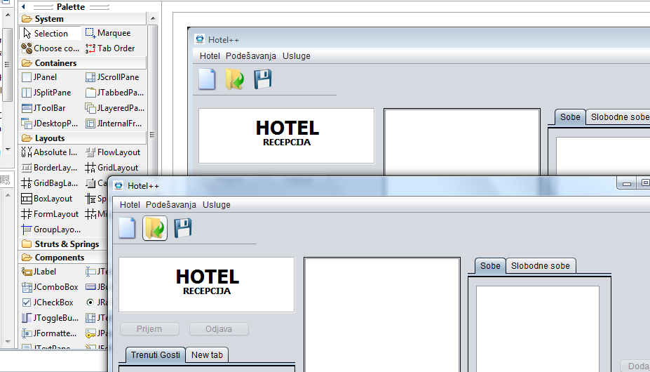 chnage look and feel of running application java