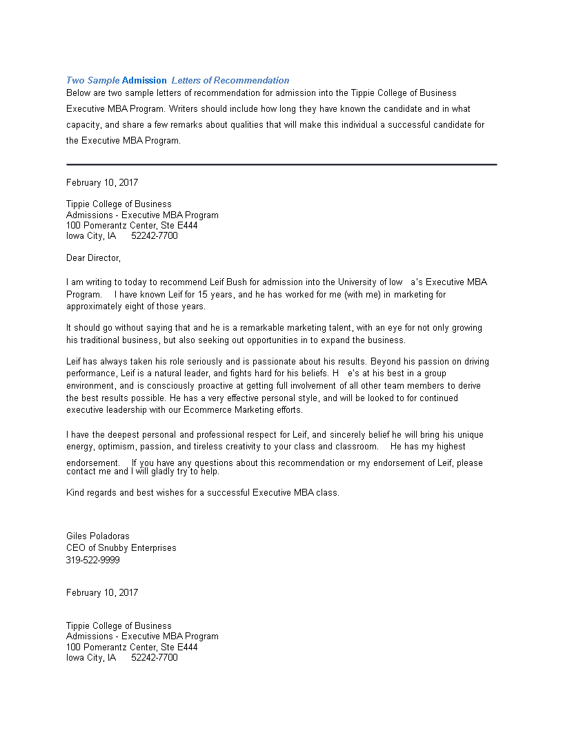 vancouver college application reference letter